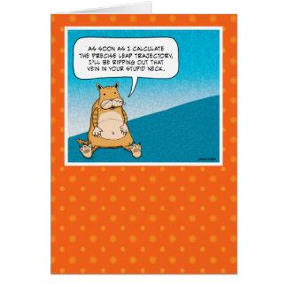 Funny birthday card: Evil Kitty Card