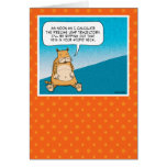 Funny birthday card: Evil Kitty Greeting Card