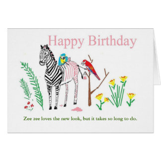 Funny birthday card for her.