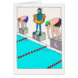 Funny Birthday Card for Novice Swimmer