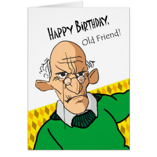 funny old man birthday greeting cards  zazzle, Birthday card