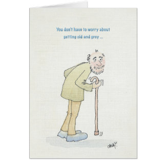funny old man birthday cards  zazzle, Birthday card