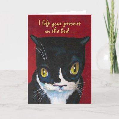 Surprise Tuxedo Cat Happy Birthday Card Zazzle