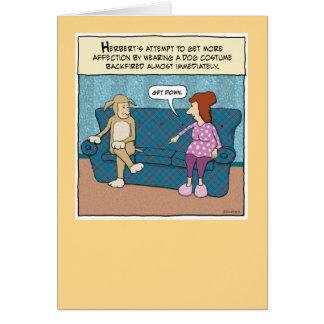 Funny birthday card: Get Down Card