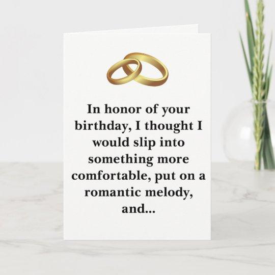 Birthday Card For Husband.Funny Birthday Card Husband Or Wife
