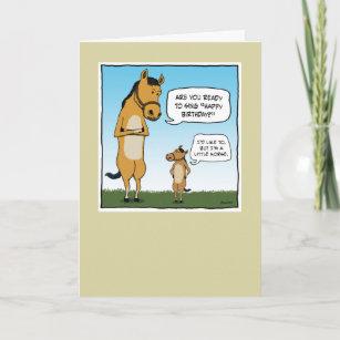 funny horse birthday cards zazzle