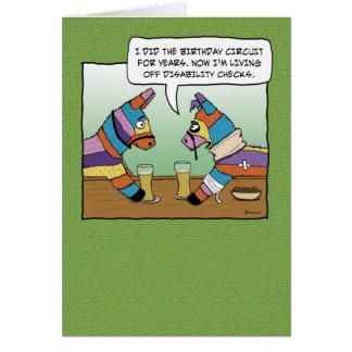 Funny birthday card: Pinata on disability Greeting Card
