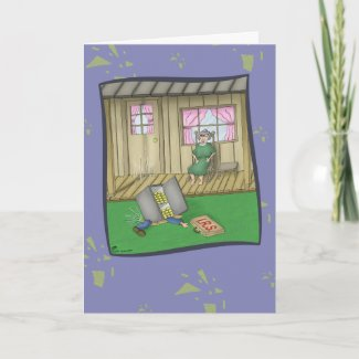 Funny Birthday Card: Pleasant Surprise card