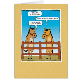Funny birthday card: Pulled Groin Greeting Card