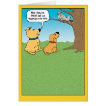 Funny Birthday Card, Squirrel Disguise Card