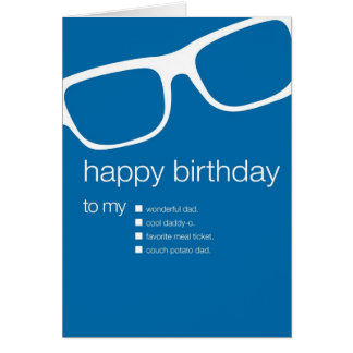 funny dad birthday cards  zazzle, Birthday card