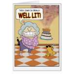 Funny Birthday Card: Well Lit