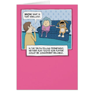 Funny birthday card: What's That Smell? Greeting Card