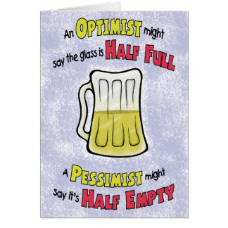 Funny Birthday Cards: Beer Philosophy Greeting Card