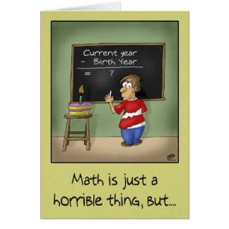 Funny Birthday Cards: Birthday Math Greeting Card