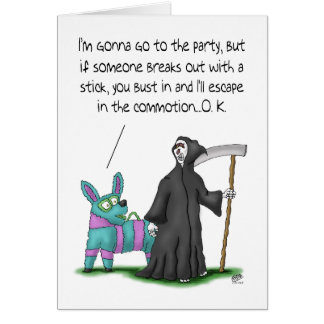 Funny Birthday Cards: Birthday Party Plans Card