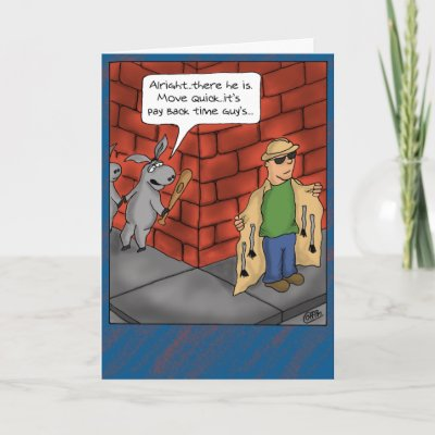 Funny Birthday Cards: Birthday Tail £1.95 from zazzle.co.uk