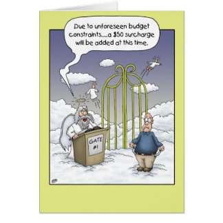 Funny Birthday Cards: Budget Constraints Card