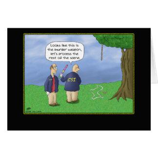 Funny Birthday Cards: CSI Piñata Greeting Card