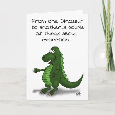 Funny Birthday Greeting Card With A Funny Cartoon Illus