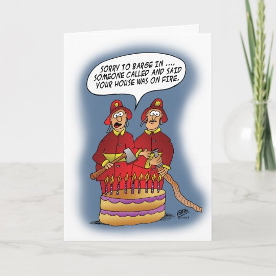 Funny Birthday Cards Fire Alarm Card