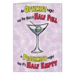Funny Birthday Cards: Martini Philosophy Card