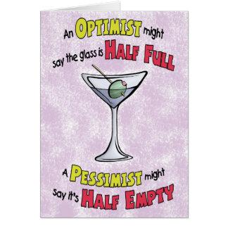 Funny Birthday Cards: Martini Philosophy Greeting Card