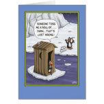 Funny Birthday Cards: Penguin Pranks