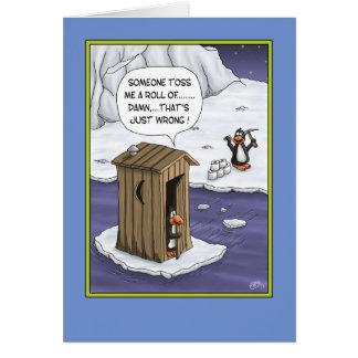 Funny Birthday Cards: Penguin Pranks Card