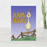 🤣 Funny Spring Chicken Humor Birthday Card
