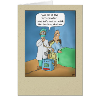 Funny Birthday Cards: The Prostanator Card