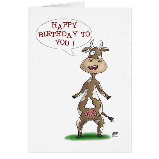 Funny Birthday Cards: Udderly Fantastic Birthday Card
