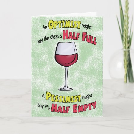 Funny Birthday Cards Wine Philosophy Card