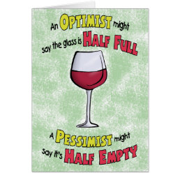 Funny Birthday Cards: Wine Philosophy Card