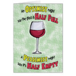Funny Birthday Cards: Wine Philosophy Greeting Card