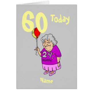 Funny birthday cartoon, add age personalized card