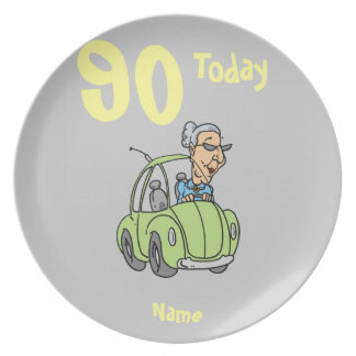 Funny birthday cartoon, add age personalized plate