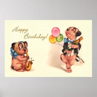 Funny Birthday Dogs Print