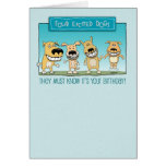 Funny Birthday: Excited Dogs Greeting Card