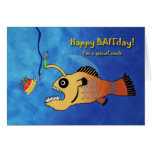 Funny Birthday for Uncle, Anglerfish Baitday Card