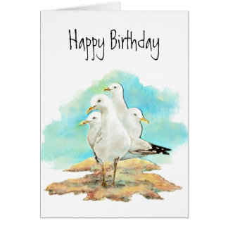 Funny Birthday, From the Gang of Seagulls, birds Card