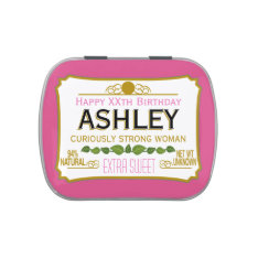 Funny Birthday Gag Gift for a Woman Jelly Belly Candy Tin at Zazzle