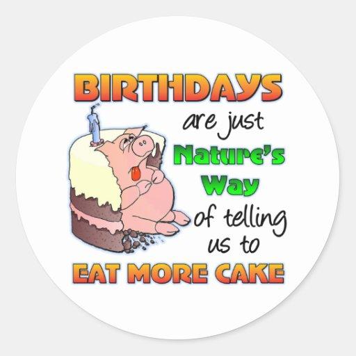 Funny Birthday Gift Classic Round Sticker