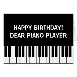 Funny Birthday greeting card for piano player