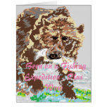 Funny Birthday Greeting Card  Grizzly Bear