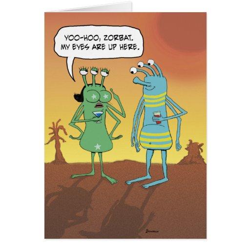 Funny Birthday: Jerky Alien Guy Greeting Card