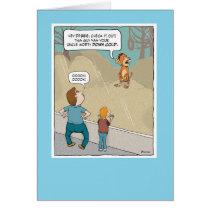 Funny Birthday: Monkey Business Card