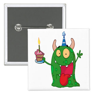 funny birthday monster cartoon character pins