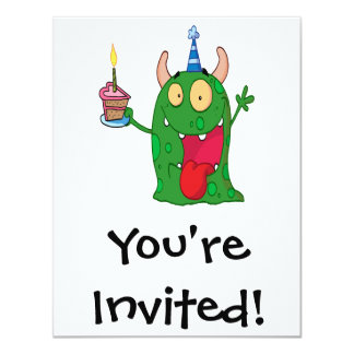 funny birthday monster cartoon character card