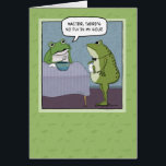 """Funny Birthday: No Fly for Frog Card<br><div class=""""desc"""">This cute and funny birthday card features a frog who is sad to find that there&#39;s no fly in his soup.</div>"""